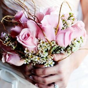 Pink Rose Bouquet - Highfill Wedding