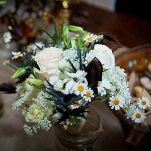 Mason Jar Arrangements - Weiss Wedding