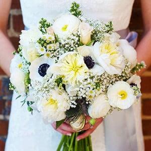 White Bridal Bouquet TN - Gray Wedding