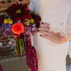 Burgundy Wedding Bouquet - Carroll Wedding