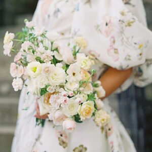 Martha Stewart Weddings: This Couple Tied the Knot Beneath a Sweet Floral Arch - Catering by Beyond Details Nashville